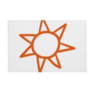 Imagem de DIYthinker Tapete antiderrapante para porta de banheiro com pintura à mão laranja