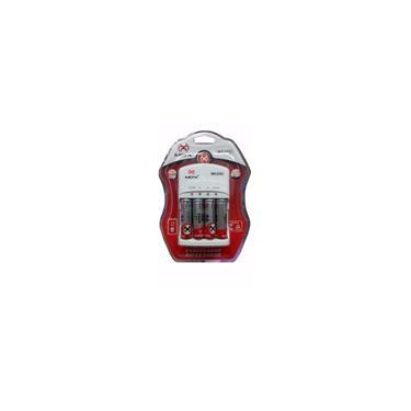 Imagem de Carregador de Pilhas Recarregável mox Com 4 Pilhas aa aaa e 9V Recarregáveis 2600mAh 110/220V Bi-Vol