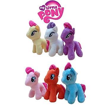Imagem de 6 Pelúcia Ponei My Little Poney Pelucia Pony 23 cm