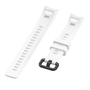 Pulseira de Silicone Branca Adulto Para Relógio Huawei Honor Band 4/5