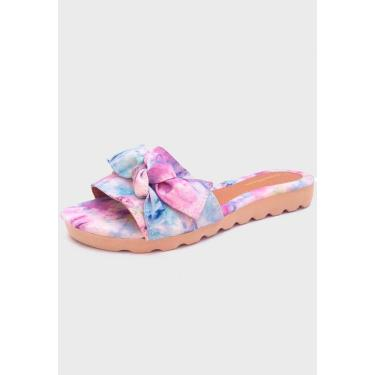 Sandália Feminina Tie Dye Roxo Gomes Shoes  feminino