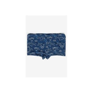 Sunga Boxer Infantil Estampada Azul-Marinho