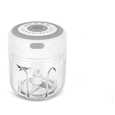 Mini Espremedor de Alho Doméstico Batedor de Alho Elétrico Sem Fio Espremedor Elétrico (250ml Branco)