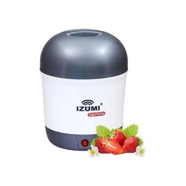 Imagem de Iogurteira Elétrica Cinza Bivolt 1 Litro Modelo Novo Izumi