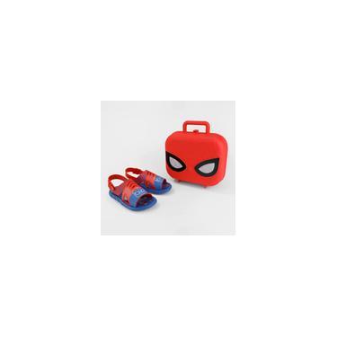 Imagem de Sandália Marvel Hero com Maleta Homem Aranha - Azul e Vermelho