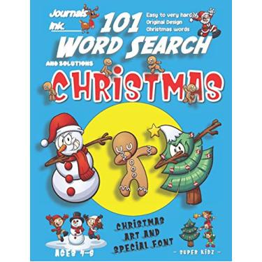 101 Word Search for Kids: SUPER KIDZ Book. Children - Ages 4-8 (US Edition). Friends Dabbing, Blue, Christmas Words w custom art interior. 101 Puzzles ... and learning for fun activity time!