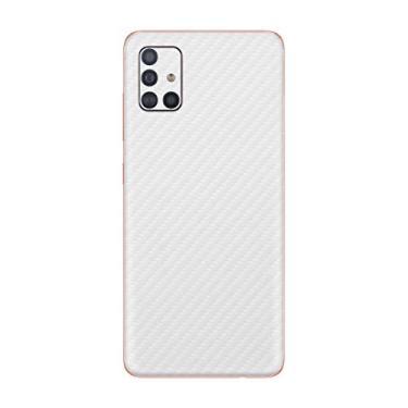 Skin Adesivo Traseira Texturizado Para Galaxy A71 (Branco)