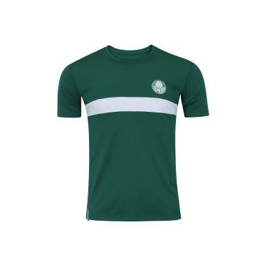 24544bb980 Camiseta do Palmeiras Faixa Meltex - Masculina - VERDE BRANCO Meltex