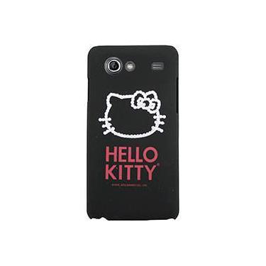 Capa para Celular Galaxy S2 Lite Hello Kitty Cristais Policarbonato Preta - Case Mix