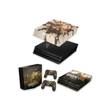 Capa Anti Poeira e Skin para PS4 Pro - Resident Evil 7: Biohazard