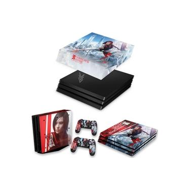 Capa Anti Poeira e Skin para PS4 Pro - Mirror'S Edge Catalyst