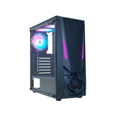 Gabinete Gamer K-Mex Jaeger I CG-01TJ RGB - ATX Preto
