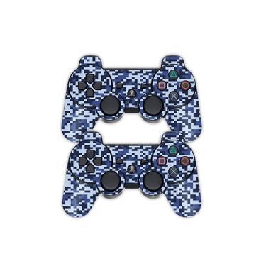 Adesivo Pra Controle Ps3 Pixel Azul - Não É Controle