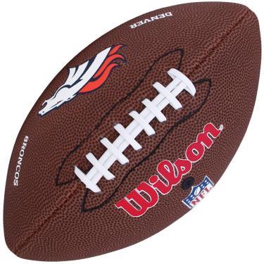 b2cde5aa763ec Bola Fut Americano Wilson NFL Denver Broncos WTF1540XB-DN - MARROM BRANCO -  UNICO