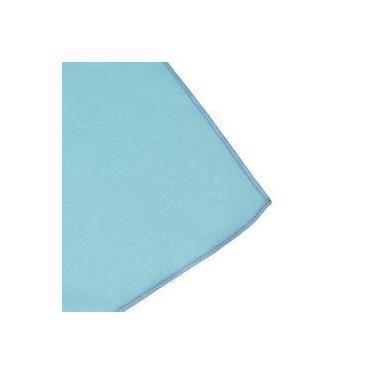 Imagem de Toalha De Mesa Cobre Mancha Quadrado Em Tecido Azul Claro 0,75m
