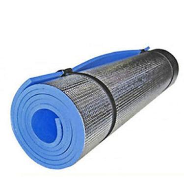 Tapete de ioga Filme à prova de umidade Tapete de ioga Exercício Exercício Fitness Pilates Pad (Azul)