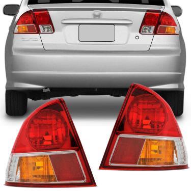 Lanterna Traseira Honda Civic 2004 2005 2006 Serve 2001 2002 2003 Canto Lado Direito Passageiro