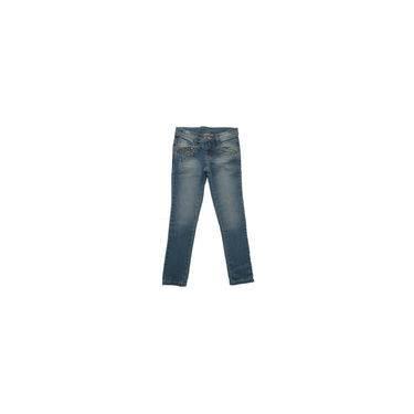 Calça Infantil Jeans Strass Dourado