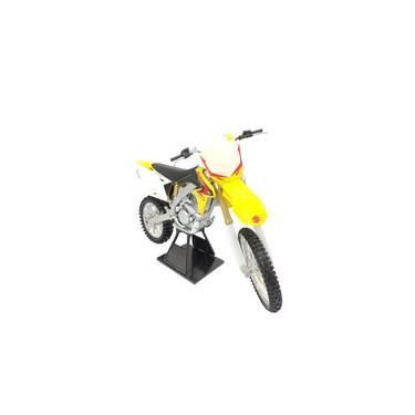 Imagem de Moto de Ferro Trilha Miniatura Suzuki RM-Z450 2010 1:6 na Caixa New-Ray