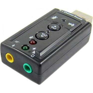 Adaptador Audio Placa De Som USB 7.1 Canais Para Notebook Pc