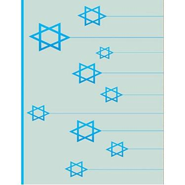 "Star Of David: Jews for Jesus: Jewish Christian Notebook College Ruled Line Paper 8.5""x11"" Composition Note Book 60 Sheets (120 Pages) Gold Star of David for kids lighys men women friends Judaism"