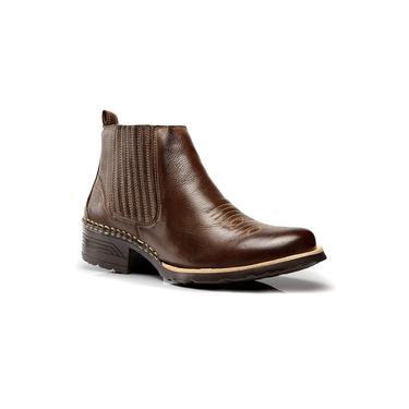 Bota Coutry Texana Capelli Boots Couro com Solado em Borracha Masculina