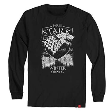 Camiseta Game Of Thrones Manga Longa Stark Winter Is Coming XG