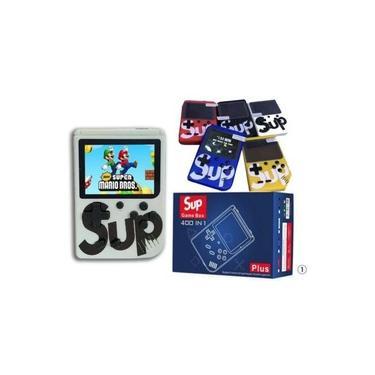 Mini Game Portátil SUP 400 Jogos Internos Console Controle Retro 400 in 1 Branco