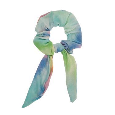 Scrunchie tecido estampado tie dye