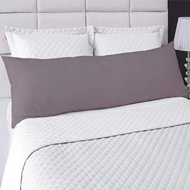 Imagem de Fronha Avulsa P/Travesseiro Corpo 0,50x1,50m Lisa com Zíper