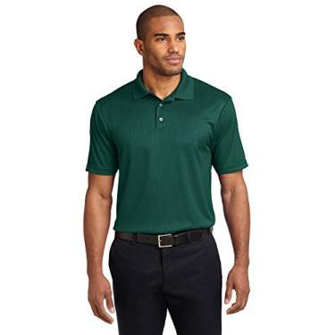 Camisa polo masculina Performance Jacquard Port Authority, Green Glen, X-Large