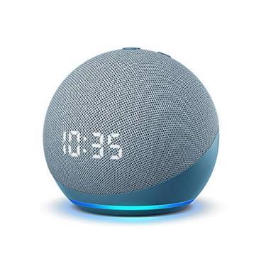 Imagem de Echo Dot 4 Geração Alexa com Relógio