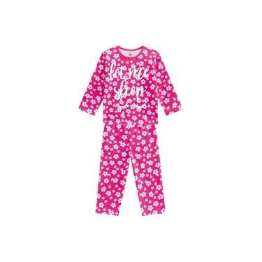Pijama Brandili Infantil Brilha No Escuro Menina