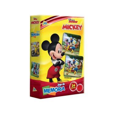 Imagem de Jogo Da Memória Jak Disney Júnior Mickey - 48 Cartas