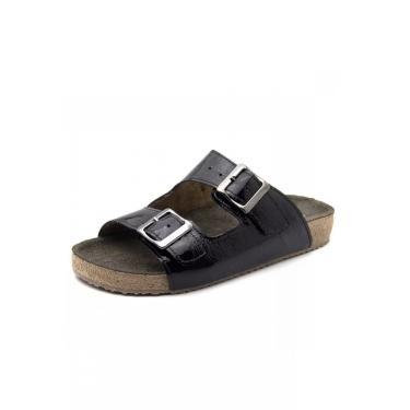 Imagem de Birken Doctor Shoes Couro com Brilho 214 Preta 214-VZPTO-186-1042 feminino