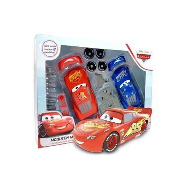 Imagem de Kit Carrinhos Relâmpago Mcqueen Pixar Disney Monta e Desmonta Brinquedo Criança A partir dos 3 Anos Toyng