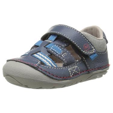 Sandália infantil Stride Rite Soft Motion para bebês e meninos Antonio, Azul marino, 3.5 Toddler