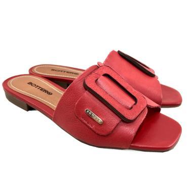 Tamanco Couro Bottero Summer Slide Feminino - Vermelho  feminino