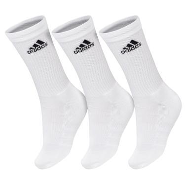 Meia Adidas Cano Longo Cushion 3S Branca - Pack com 3 Pares - 43 ao 46 e5fd7f41e033a