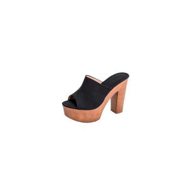 Sapatos Moda Feminina de Verão com Solado Grosso Sapatos Femininos de Salto Alto Fish Mouth Slipper cool 13929