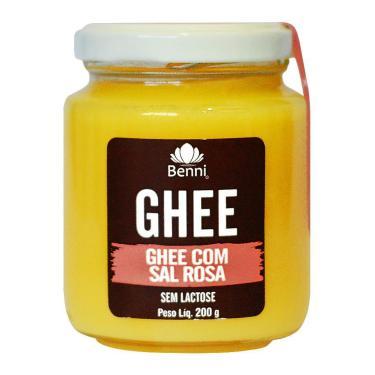 Manteiga Ghee Com Sal Rosa Do Himalaia 200G - Benni
