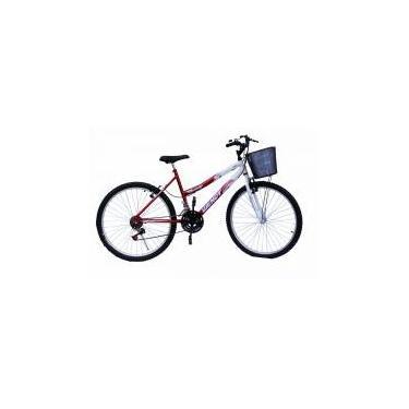 Bicicleta aro 26 wendy fem mtb 18m convencional cor vermelho -
