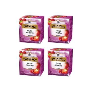 4 X Chá Frutas Silvestres Twinings Of London 20g 40 Sachês