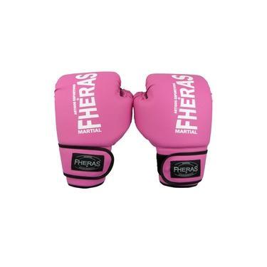 Luva Boxe Muay Thai Tradicional 10 oZ Rosa
