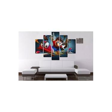 Painel Quadro Mosaico 5 Partes Mario 100cmx68cm Ref 311