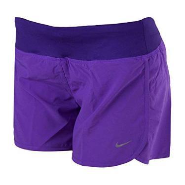 """Shorts Nike New 4"""" Rival Roxo Feminino"""