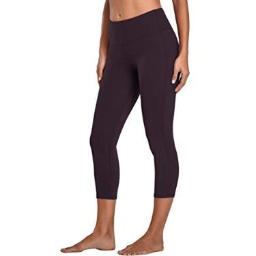 Oalka Calça legging feminina para ioga, corrida, Vintage Violet Purple, Medium