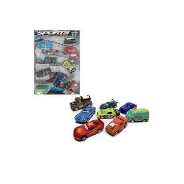 Imagem de Brinquedo Kit 8 Peças Carrinho Carros Relâmpago McQueen