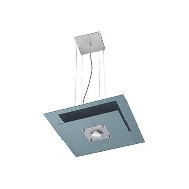 Pendente 31245 Alumínio/Vidro Cromado Vidro Preto - Pantoja&Carmona