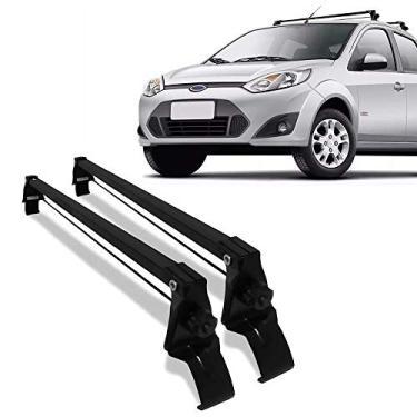 Rack de Teto Fiesta Rocam Sedan/hatch 02/14 4 Portas Preto Aço Vhip